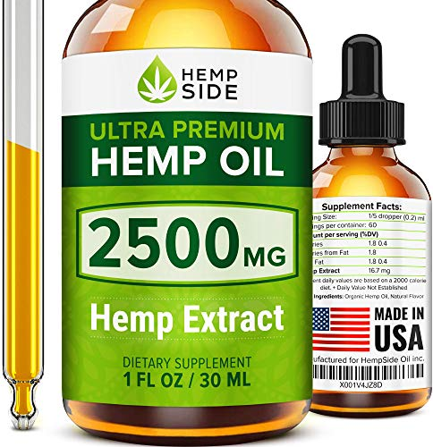 Hemp Oil Drops for Stress & Anxiety Relief - Tested and Verified Hemp Oil - Ultimate Hemp Power - Grown & Made in USA - Anti Inflammatory Formulation - Joint Support - Omega 3, 6 & 9.