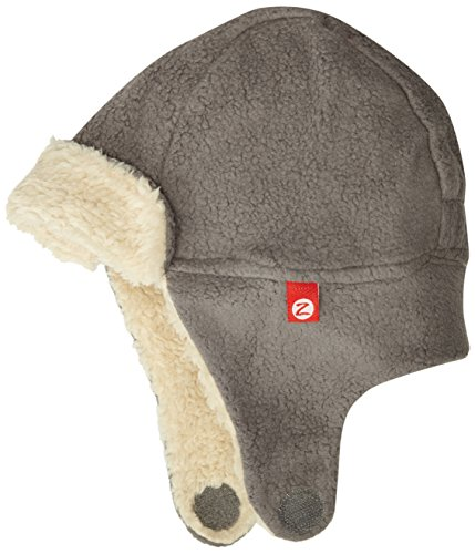 Zutano Unisex Girls^Baby-Boy's Cozie Fleece Furry Hat, Gray, 12M