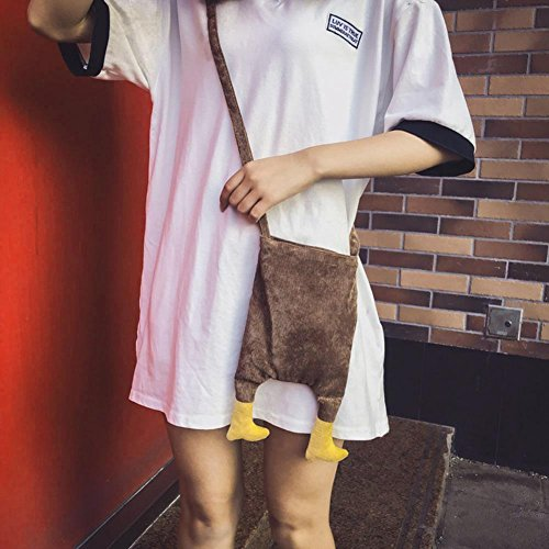 Shoulder Mini Widewing Cute Messenger Coin Girl Canvas Feet Purse Kids Brown Bag Crossbody rgqZ4qXpc