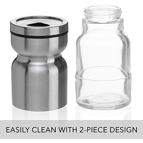 CHEFVANTAGE Salt and Pepper Shakers Set with Adjustable Pour Holes - Red by CHEFVANTAGE (Image #5)