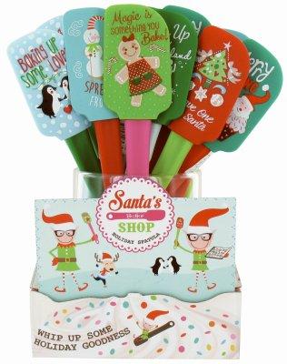 (Santa's Bake Shop X-spat Bake Shop Holiday Spatulas, Assorted (Pack of 24))