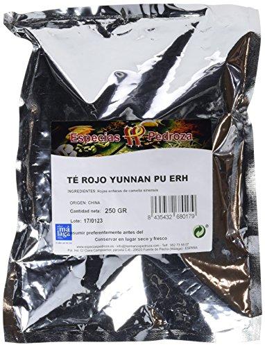 Especias Pedroza Te Rojo Yunnan Pu Erh - 2 Paquetes de 250 gr - Total 500 gr