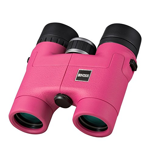 BNISE - 8X32 Compact Binoculars for Bird Watching - Lightweight Magnesium Alloy Body - FMC Optics and Phase Coated BaK-4 Prisms - Bright and Undistorted Image - Pink (Lightweight Magnesium Body)