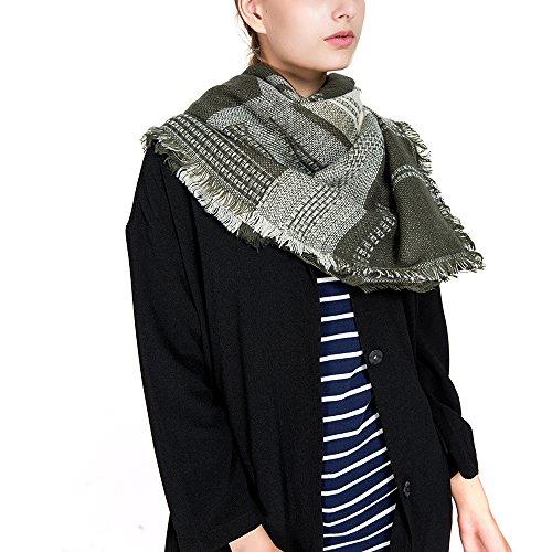fa1001862652 Fienne Nueva rejilla geométrica bufanda imitación de invierno ...
