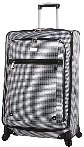 Nicole Miller Taylor 28' Expandable Spinner Suitcase (Blue Plaid)