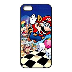 iPhone 5 5s Cell Phone Case Black Super Mario Bros Unique Durable Phone Case Cover CZOIEQWMXN7786