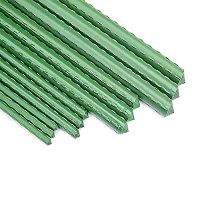 UniEco Metal Garden Stakes Plastic Coated Steel Plant Stakes, Plant Sticks for Plant Support