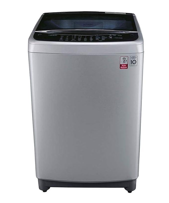 LG 8 kg Inverter Fully-Automatic Top Loading Washing Machine (T9077NEDL1, Free Silver) Washing Machines & Dryers at amazon