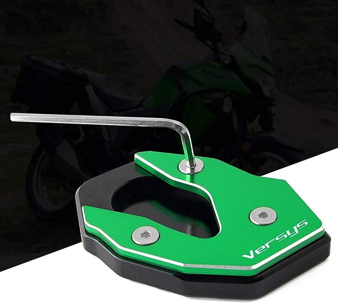 Motorrad Seitenständer Unterstützung Vergrößern Fuß Verbreiterung Ständer Platte Teller Pad Cnc Gefrästem Aluminium Für Kawasaki Versys1000 Versys 1000 Kle1000 121314 Kawasaki Versys 1000 Se 2019 Auto