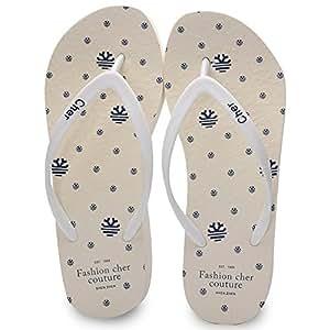 CHANCLAS SANDALS Zapatillas de goma de las mujeres Zapatillas de Europa Zapatos de playa antideslizantes Blanco Azul Verde Rosa elegante ( Color : Blanco , Tamaño : EU36/UK3.5/CN36 )