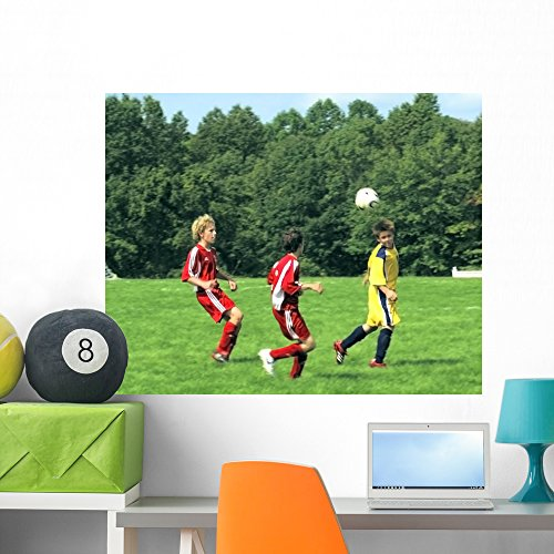 Wallmonkeys Youth Soccer 2006-14 Wall Mural Peel and Stick Graphic (36 in W x 29 in H) WM20200 (Real 2006 Football)