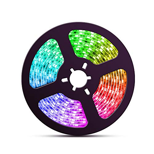 - 16.4ft/5M LED Strip Lights with Chase Effect, Dream Color 150LEDs 5050SMD RGB LED Light Strip for Kitchen Home(Power Supply and Controller not Included)