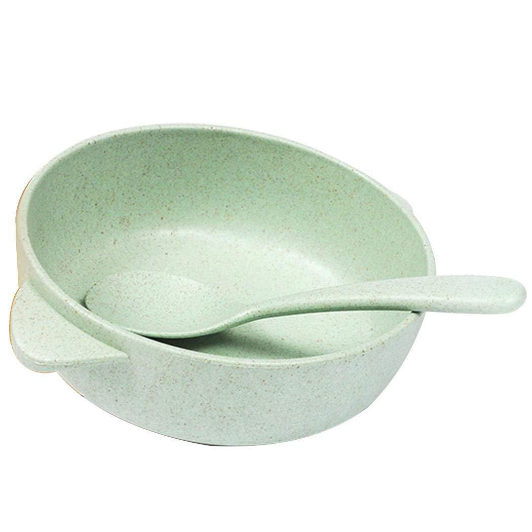 数量は多い  IEKOFO 小麦わらベビー用食事ボウル スプーン付き 食品容器 子供/幼児/子供用 スプーン付き 11.5x11.5x4cm/4.5x4.5x1.6inch グリーン 子供/幼児/子供用 グリーン SHXB043404_G# グリーン B07NQ7J5TK, ライバルはデパート Gracefulsmile:f62d8c5b --- yelica.com