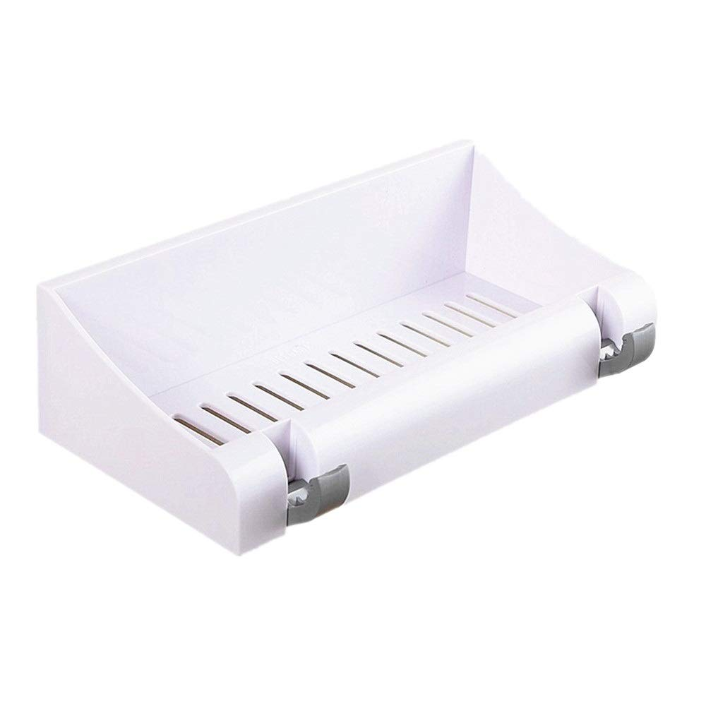 Fealkira Wall Mounted Floating Bathroom Shelves Shower Rack Adhesive Shelf,Easy Installing For Kitchen/Shower & Living Room/Office(No Nails No Tools)