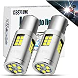 Boodlied 20W 9-30V 1156 LED Bulb 3000Lm Super Bright 3030 30-SMD Chips P21WY 7507 BAU15S LED Lamps For Backup Reverse Lights,Turn Signal Lights(No Hyper Flash).Xenon White 2-Pack.