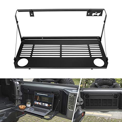 Tailgate Table for Jeep Wrangler 2018 2019 JL Trunk Flexible Rear Door Table Foldaway Shelf Rack Cargo Luggage Holder ()