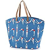Mud Pie Bathing Beauties Tote, Blue