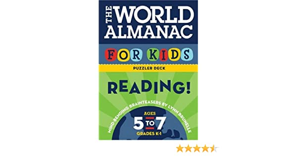 The World Almanac for Kids Puzzler Deck: Reading: Ages 5-7 ...
