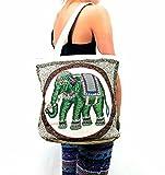Kraft4Life Hobo Boho Elephant Sling tote Bag Shoulder Bag Bohemian Purse(EL004)