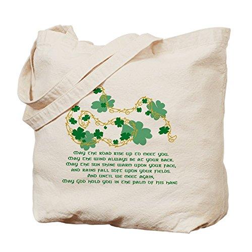 CafePress–irlandés bendición–Gamuza de bolsa de lona bolsa, bolsa de la compra
