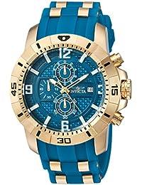 Men's 'Pro Diver' Quartz Stainless Steel Casual Watch, Color:Blue (Model: 24966)