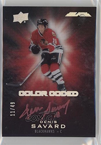 Color Coded Single - Denis Savard #/49 (Hockey Card) 2016-17 UD Black - Color Coded Signatures #CO-DS