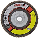 """CGW 42334 Premium Z3 Right Angle Grinder Abrasive Flap Disc, Type 29, Zirconia, 4-1/2"""" Diameter, 60 Grit, 5/8""""-11 Arbor, Regular Thickness  (Pack of 1)"""