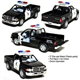Kinsmart Dodge Ram (Police) Die-Cast Car Toy with Openable Doors & Pull Back Action