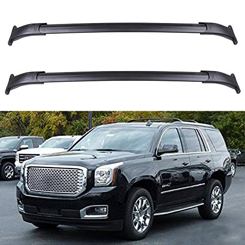 ECCPP Roof Top Cross Bar Set Roof Rack Luggage Cargo Carrier Rails Fit for 2015-2018 Cadillac Escalade/Cadillac Escalade ESV/Chevrolet Suburban/Chevrolet Tahoe/GMC Yukon/GMC Yukon XL,Aluminum