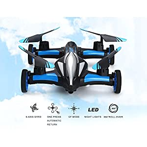 Blexy RC Car Flying Electric Vehicle 2.4Ghz RC Drone Remote Control Quadcopter 6-Axis Gyro Stunt Mini Helicopter Without Camera from AHAHJJ