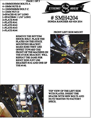 2 lift kit honda 420 rancher 4x4 - 8