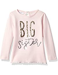 Baby Toddler Girls' Big Sister Long Sleeve Cotton Tunic Top