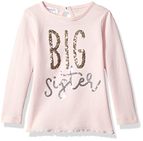 Big Sister Toddler Shirt (Mud Pie Baby Toddler Girls' Big Sister Long Sleeve Cotton Tunic Top, Pink, SM/ 12-24 MOS)