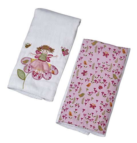 Maison Chic Double Burp Cloth Gift Set, Fairy Garden