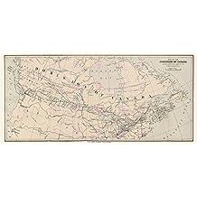 MAP DOMINION CANADA CANADIAN PRODUCE LARGE ART PRINT LF888
