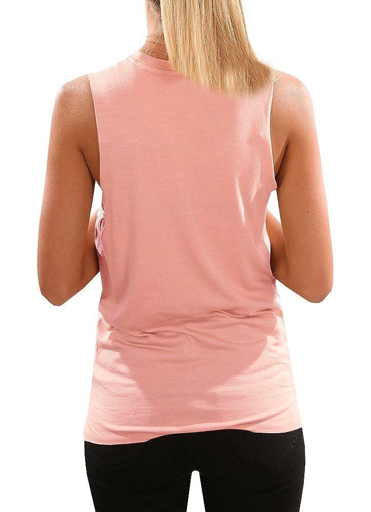 Tutorutor Womens High Neck Cami Tank Top Summer Sleeveless T Shirts Plain Pocket 2019 Tunic Tops Blouses