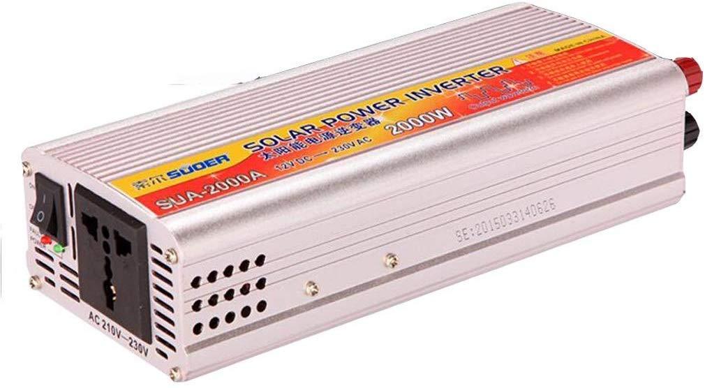DJNBQ 2000W de Potencia del inversor del Coche, CC 12V a 220V AC ...