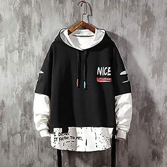 EOXO Stranger thing hoodie Men'S Hoodie Autumn Men'S Fashion Hoodie Men'S  Sweatshirt Solid Color Stitching Hoodie Street Style: Amazon.co.uk: Clothing
