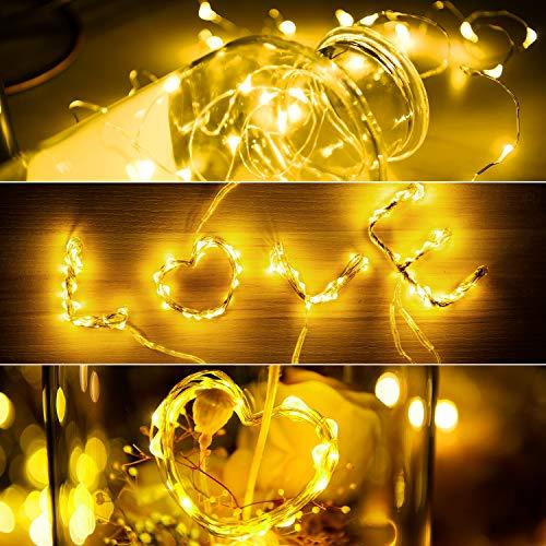 SUNNEST Fairy String Lights, 12 Pack Fairy Lights, Cool White ()