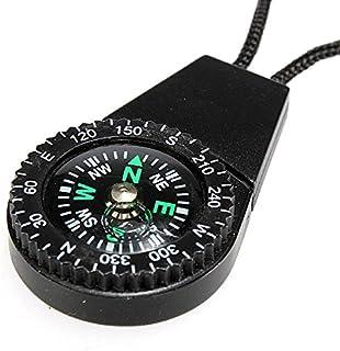 INNI Boussole de Survie Mini Compass Scale Type avec de l'eau Hang Corde Couleur aléatoire