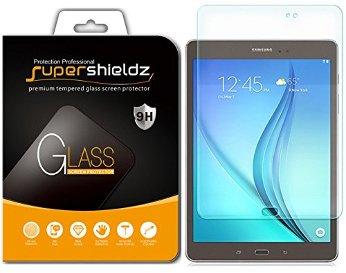 (2 Pack) Supershieldz for Samsung Galaxy Tab A 8.0 (2015) (SM-T350 Model Only) Tempered Glass Screen Protector, Anti Scratch, Bubble Free (Screen Protector Galaxy Tablet 8)