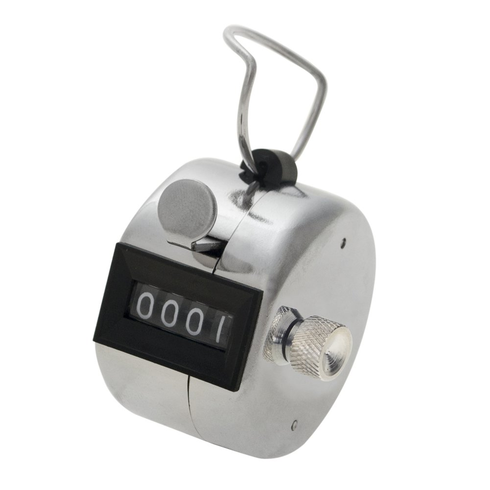 GOGO Tally Counter, Metal Hand Counter, Solid Metal Counter Clicker KDCJ-AL10003