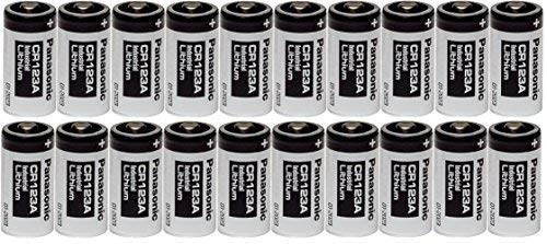 (20 Panasonic CR123A 123A Industrial 3V Lithium Batteries)