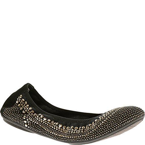 Women's Gold Chaste Mary Ballet Jane Hush Stud Puppies Textile Flats 0xqPwnC