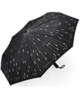 Plemo Folding Umbrella With Anti-Slip Grip, Automatic and Compact Windproof Umbrellas for Business and Travel, Raindrop