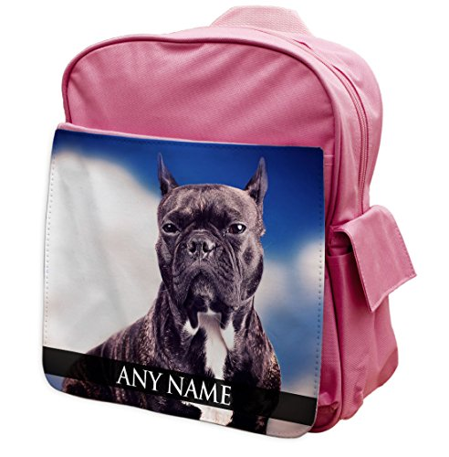 personalisierbar Staffy Hund ANIMAL PINK Rucksack Rucksack 297