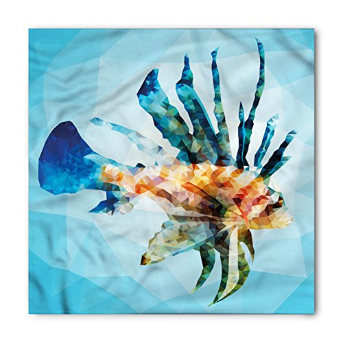 Ambesonne Fish Bandana, Ornamental Fish Style, Unisex Head and Neck Tie ()