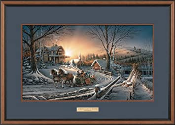 the pleasures of winter by terry redlin encore framed print open edition