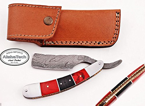 Shadow Custom Hand Made Straight Razors Damascus steel Blade