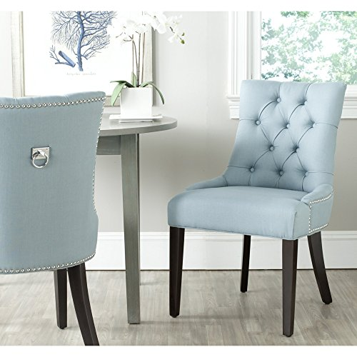 Safavieh Mercer Collection Harlow Ring Chair, Light Blue, Set of 2 ()
